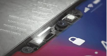 Apple iPhone XR ir scanner