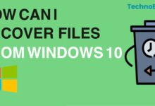 How Can I Recover Files from Windows 10?